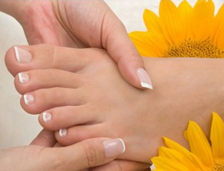 Pedicure con french